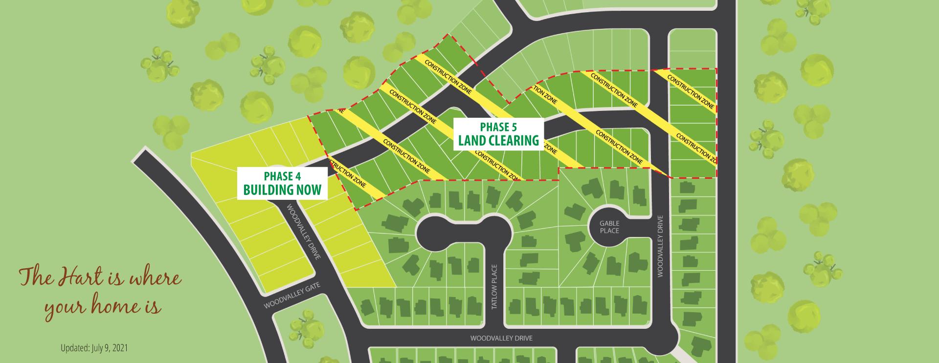 Woodlands neighborhood site map